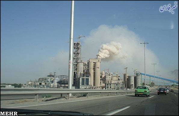 آلودگی زیست محیطی کارخانه سیمان آبیک در شهرستان های ساوجبلاغ و نظرآباد